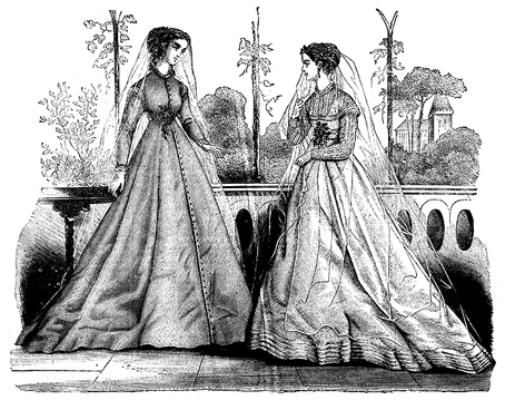 1860s wedding dresses